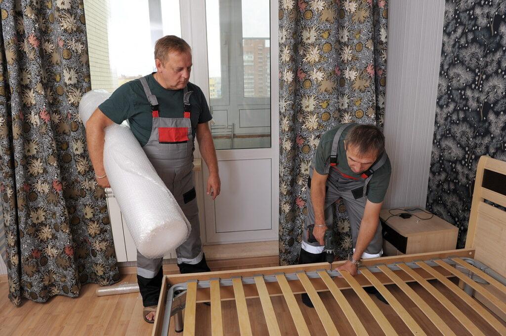 Разборка мебели в квартире для последующего переезда