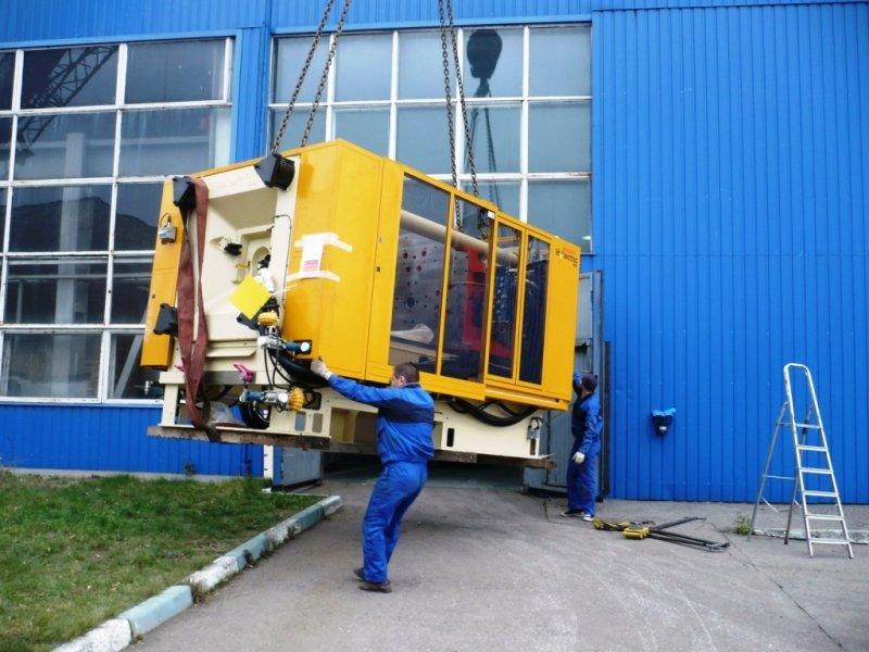 Такелажные работы по переноске промышленного оборудования